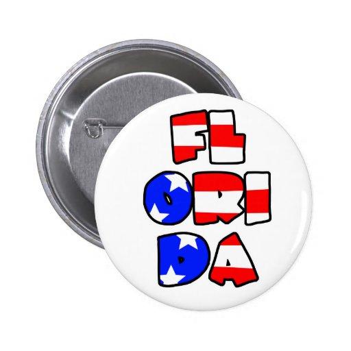 Florida Stacked - Button