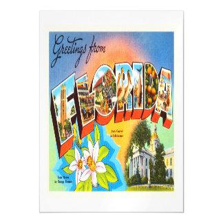 Florida State #1 FL Old Vintage Travel Souvenir Magnetic Invitations