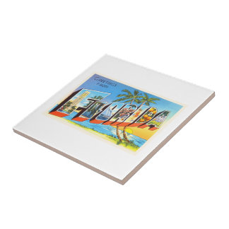 Florida State # 2 FL Old Vintage Travel Souvenir Ceramic Tile