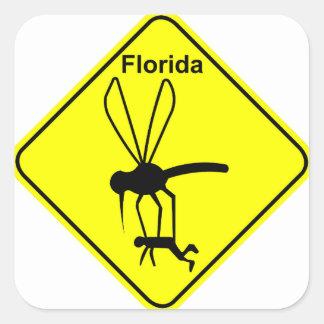 Florida State Bird the Mosquito Square Sticker