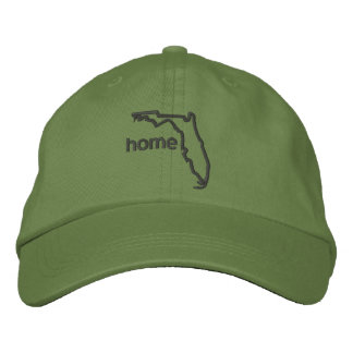 Florida state home embroidered cap