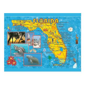 Florida State Map Postcard