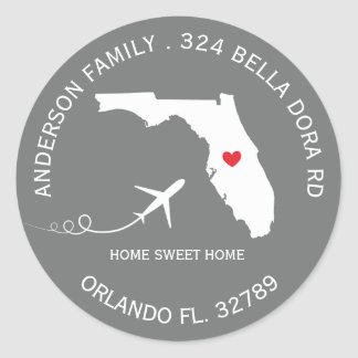 FLORIDA State | New Home Address Label Sticker