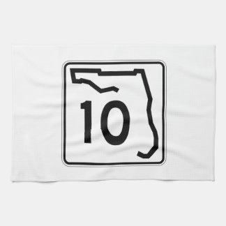 Florida State Route 10 Tea Towels
