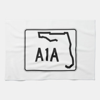Florida State Route A1A Kitchen Towels