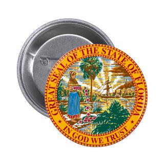 Florida State Seal 6 Cm Round Badge