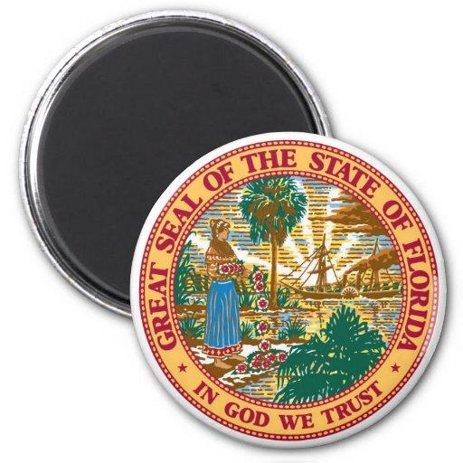 Florida State Seal Refrigerator Magnet