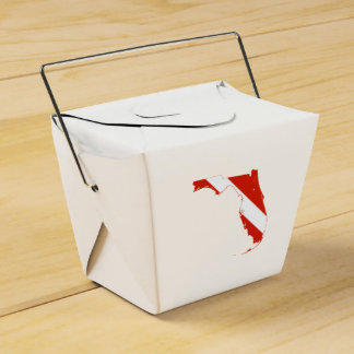 Florida State Silhouette Diving Flag Favour Box