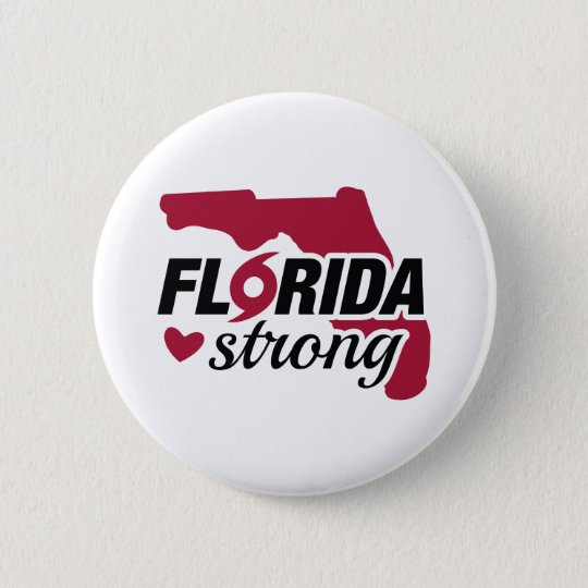 Florida Strong 6 Cm Round Badge