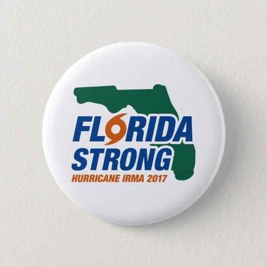 Florida Strong Hurricane Irma 6 Cm Round Badge