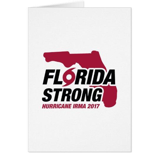 Florida Strong Hurricane Irma Card