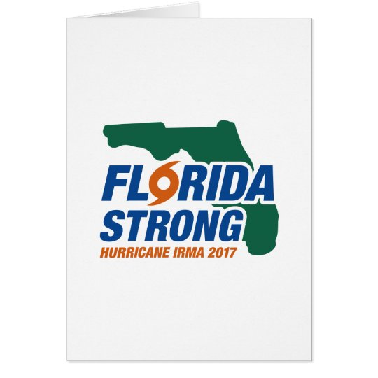 Florida Strong Hurricane Irma Card