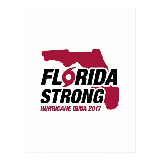 Florida Strong Hurricane Irma Postcard