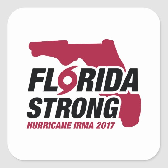 Florida Strong Hurricane Irma Square Sticker
