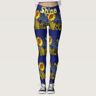 florida sunflower yoga leggings