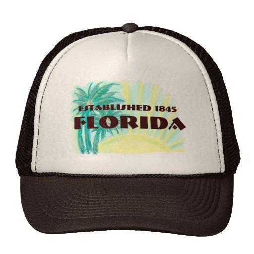 Florida sunny palms established 1845 brown hat