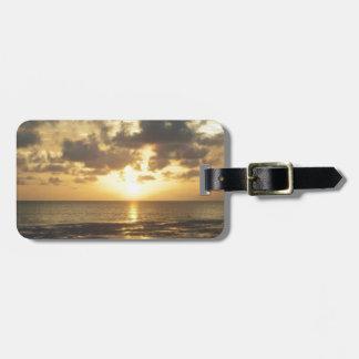 florida sunrise luggage tag