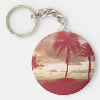 Florida sunset 1950 s style keychains