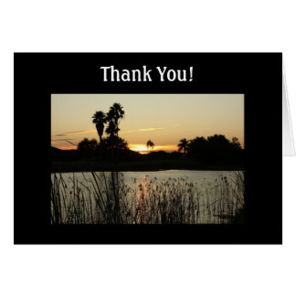 Florida Sunset and Lake Thank You Greeting Card