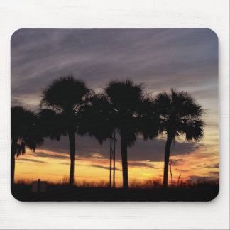 Florida Sunset and Palm Trees Mouse Pad