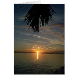 Florida Sunset Card