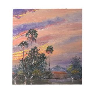 Florida Sunset Colors Notepad