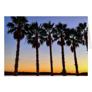 florida sunset notecard