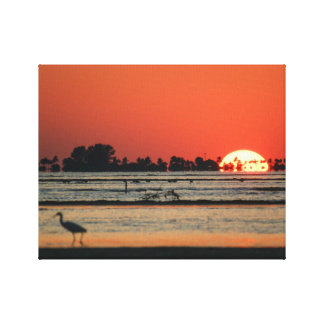 Florida Sunset over Sanibel Gallery Wrap Canvas
