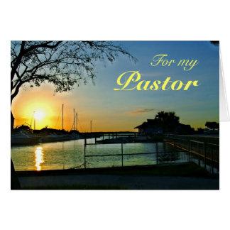 Florida Sunset Pastor Appreciation Greeting Card