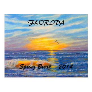 """FLORIDA SUNSET SPRING BREAK 2016 POSTCARD"" POSTCARD"