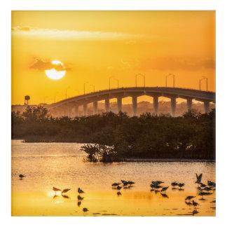 Florida Sunset Travel Photography - Titusville Acrylic Wall Art