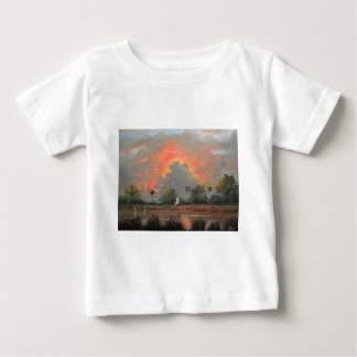 Florida Sunset while Travelling to Okeechobee Baby T-Shirt