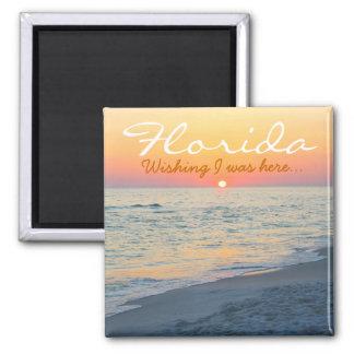 Florida sunset - Wishing I was here Magnet