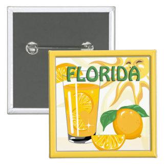 Florida Sunshine Oranges Button