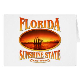 Florida Sunshine State Greeting Card
