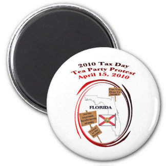 Florida Tax Day Tea Party Protest 6 Cm Round Magnet