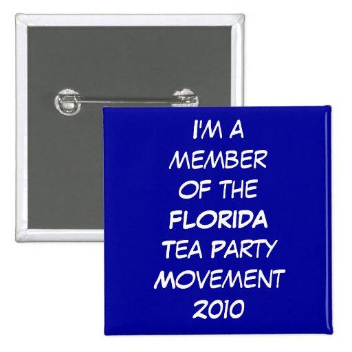 FLORIDA TEA PARTY BUTTON