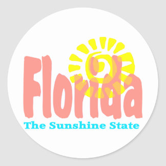 Florida The Sunshine State Classic Round Sticker