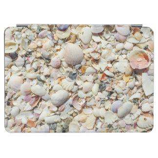 Florida Tropical Sea Shells Beach Shell Background iPad Air Cover