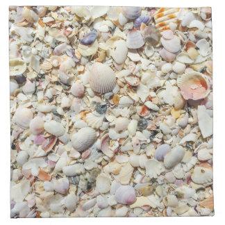 Florida Tropical Sea Shells Beach Shell Background Napkin