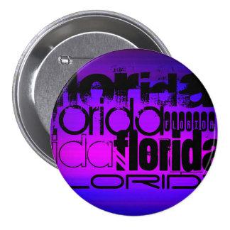 Florida; Vibrant Violet Blue and Magenta 7.5 Cm Round Badge