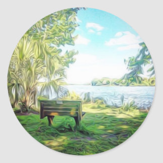 Florida Views Classic Round Sticker
