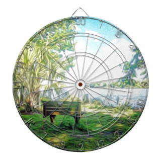 Florida Views Dartboard With Darts
