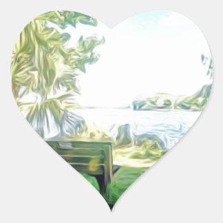 Florida Views Heart Sticker