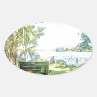Florida Views Oval Sticker