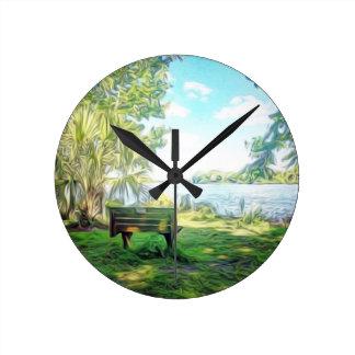 Florida Views Round Clock