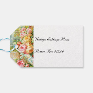 Florida Water Cologne with Cabbage Roses Gift Tags