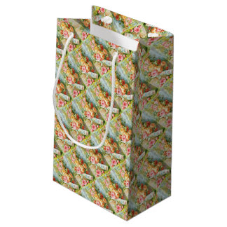 Florida Water Cologne with Cabbage Roses Small Gift Bag