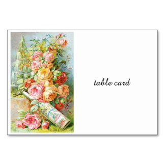 Florida Water Perfume with Cabbage Roses Card