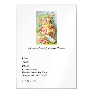 Florida Water Perfume with Cabbage Roses Magnetic Card